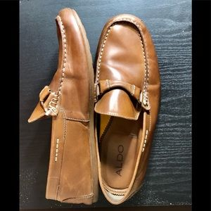 🎈2/$25🎈Aldo brown leather man loafers, siz…